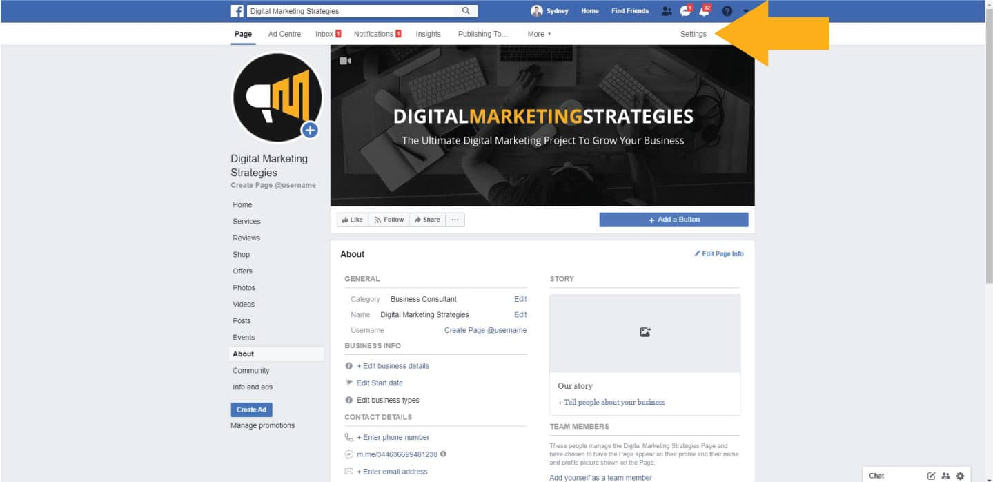 Picking the right template for your Facebook business page
